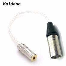 Livraison gratuite Haldane 8CORE 7N OCC argent plaqué 4Pin XLR mâle à 4.4mm femelle adaptateur Audio pour Sony casque câble