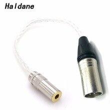 Ücretsiz kargo Haldane 8 çekirdekli 7N OCC gümüş kaplama 4Pin XLR erkek 4.4mm kadın ses adaptörü için Sony kulaklık kablosu