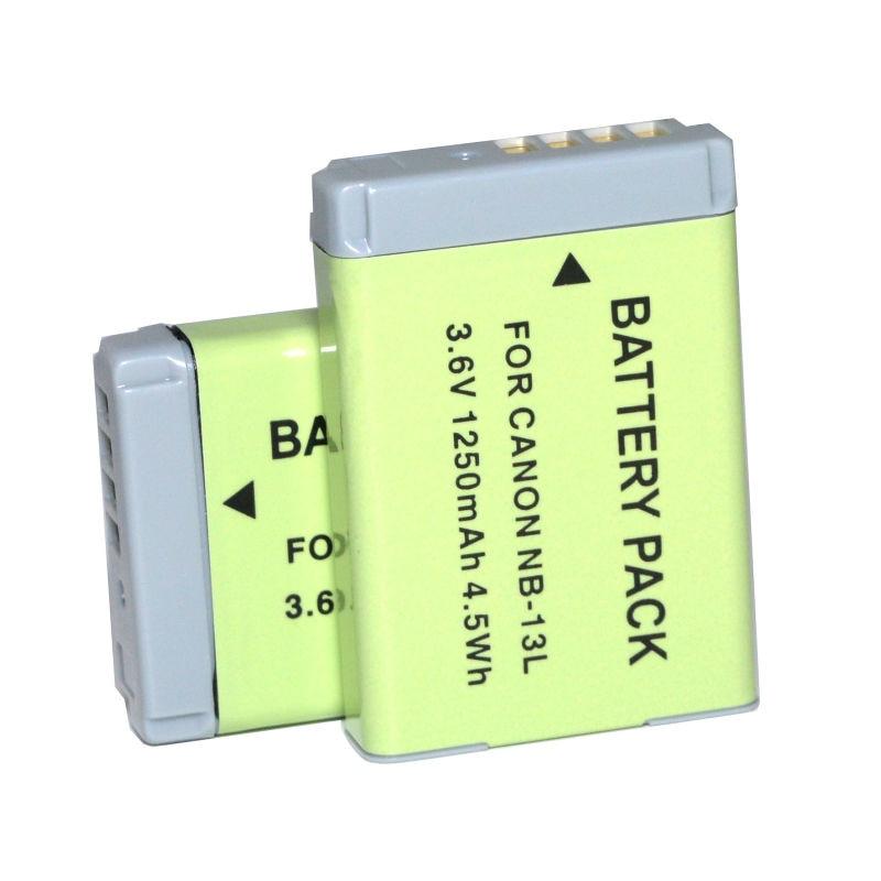 2PCS NB-13L NB13L Rechargeable Battery for Canon PowerShot G5X G7X G9X Mark II SX620 SX720 SX730 HS Camera digital camera bag for canon eos m6 m10 m100 m50 m3 m2 sx540 sx520 sx530 sx420 sx430 g7x mark ii g5x g9x ii sx730 g7x ii