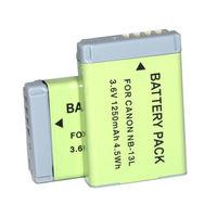 2PCS NB 13L NB13L Rechargeable Battery for Canon PowerShot G5X G7X G9X Mark II SX620 SX720 SX730 HS Camera