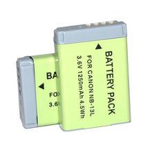 Batería recargable NB 13L NB13L para cámara Canon PowerShot G5X G7X G9X Mark II SX620 SX720 SX730 HS, 2 uds.