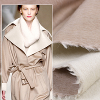 150CM Wide 820G/M Weight Double Faced Beige Thick Alpaca Wool Fabric for Autumn and Winter Dress Outwear Overcoat Jacket E542