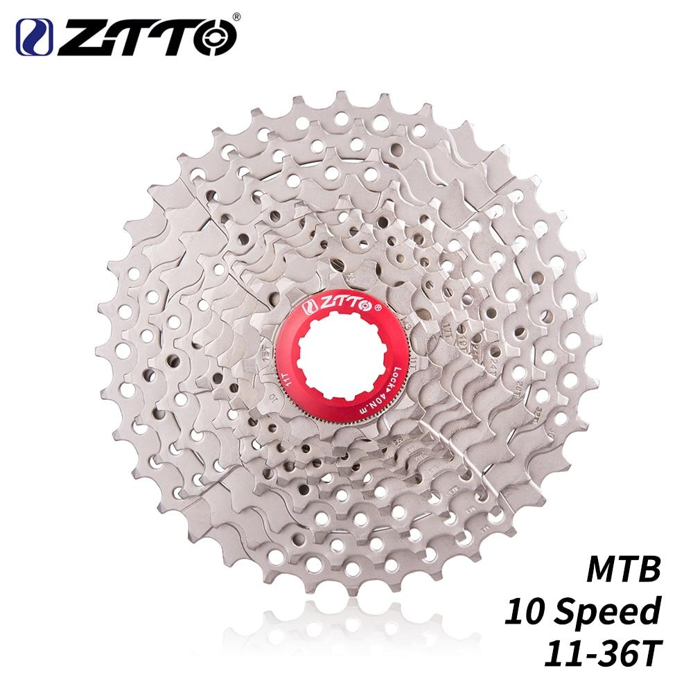 ZTTO MTB 10 s свободное колесо 10 скоростей кассета 11-36T Серебристый Стальной маховик для запчастей Велоспорт Горный велосипед запчасти