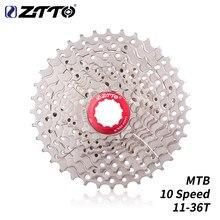 Ztto volante de bicicleta mtb 10 s freewheel, cassete de 10 velocidades 11-36t, volante de aço prata para peças de ciclismo e bicicleta de montanha peça de bicicleta