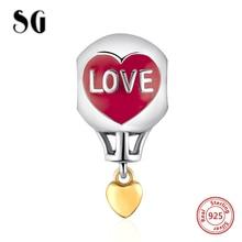 Silver 925 Original Charms hydrogen balloon Beads with red enamel Fit Authentic pandora Bracelet diy Jewelry making Women гогулан м можно не болеть как питаться чтобы жить долго упражнения здоровья методики и практики