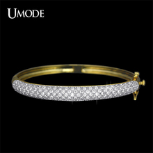 UMODE فاخر مجوهرات الذهب والروديوم لونين 129 قطعة 0.03ct تشيكوسلوفاكيا تمهيد الإسورة أساور الزفاف هدية بالجملة UB0039C