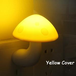 Image 4 - Mini Mushroom Baby Night light Automatic Sensor Light Control Lamp EU US Plug Child Kids Baby Room Led Lamp