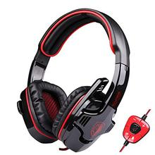 SADES 901 Pro USB PC Gaming Headset 7.1 Surround Stereo Headband headphones with Microphone Deep Bass Volume Controller Remoter