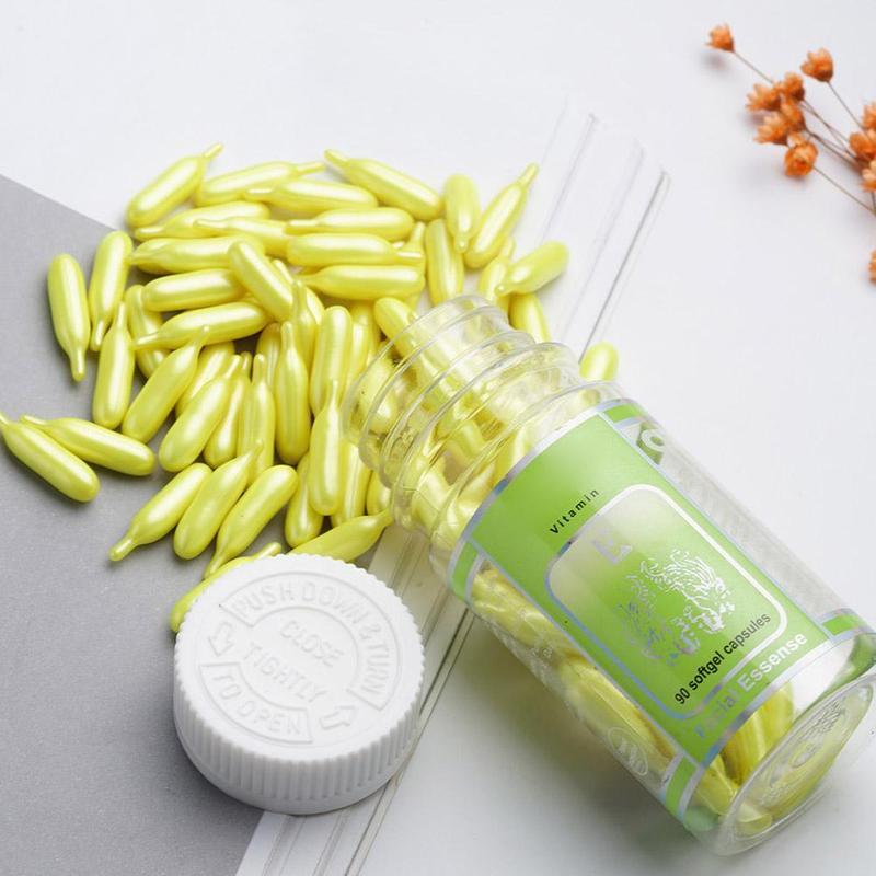 90pcs/bottle Vitamin E Whitening Capsules Serum Spot Acne Removing Cream VE Freckle Capsule