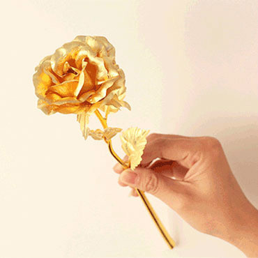 24 K Gold  Plated Rose Decoratie Golden Rose Gold  Valentines Gift