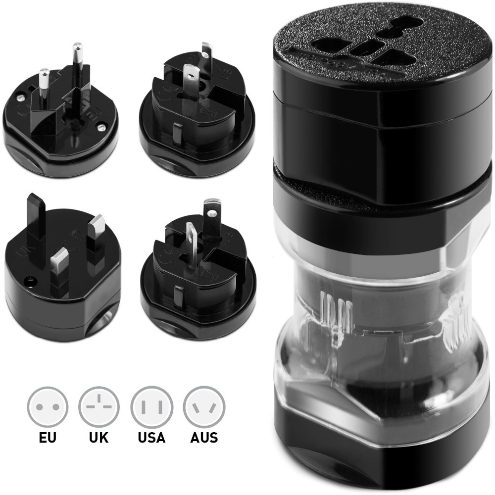 Universal Travel Adapter Plug UK US AU EU Plug World International worldwide travel Adapter Power Outlet 10A