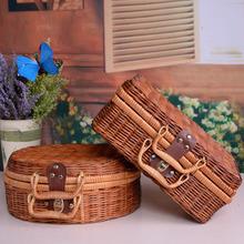 2018 Summer Beach Bamboo Bag Straw Women Handbag Handmade Woven Bag Luxury Designer Tote Travel Clutch Lunch Bags snx008 30 OFF