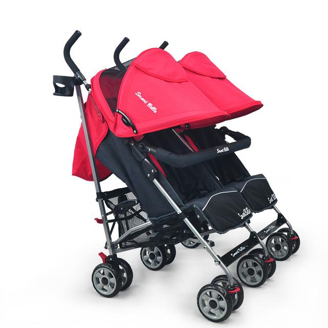 Venda quente Carrinho de Bebê Gêmeos Peso Leve Portátil Dobrável Carrinho De Criança Para Gêmeos Gêmeos Carrinho De Bebê Pode Sentar Mentindo À Prova de Choque Carrinhos C01