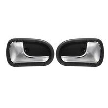 Esquerda e Direita Traseira Frente Chrome Interior Maçaneta da porta Para Mazda 323 Protege BJ 1995 1996 1997 1998 1999 2000 2001 2002 2003