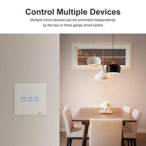 Image 4 - Sonoff Draadloze Muur Touch Light Switch, nieuwe T1UK Wifi Timer 1/2/3 Gang Schakelaar Glazen Paneel App/Rf/Voice Afstandsbediening Tx Serie