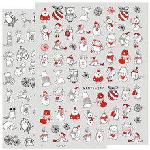 החדש 3d נייל אמנות מדבקת hanyi 247 248 נייל חג המולד תבנית מדבקות כלי DIY נייל קישוט כלים