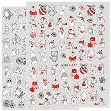 أحدث ثلاثية الأبعاد مسمار الفن ملصق hanyi 247 248 مسمار عيد الميلاد قالب الشارات أداة لتقوم بها بنفسك أدوات تزيين الأظافر