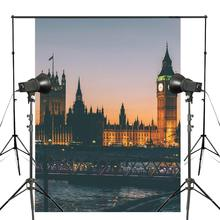 150x210cm Night View Big Ben Photo Background Westminster Palace Backdrop European theme Photography Studio Props Wall