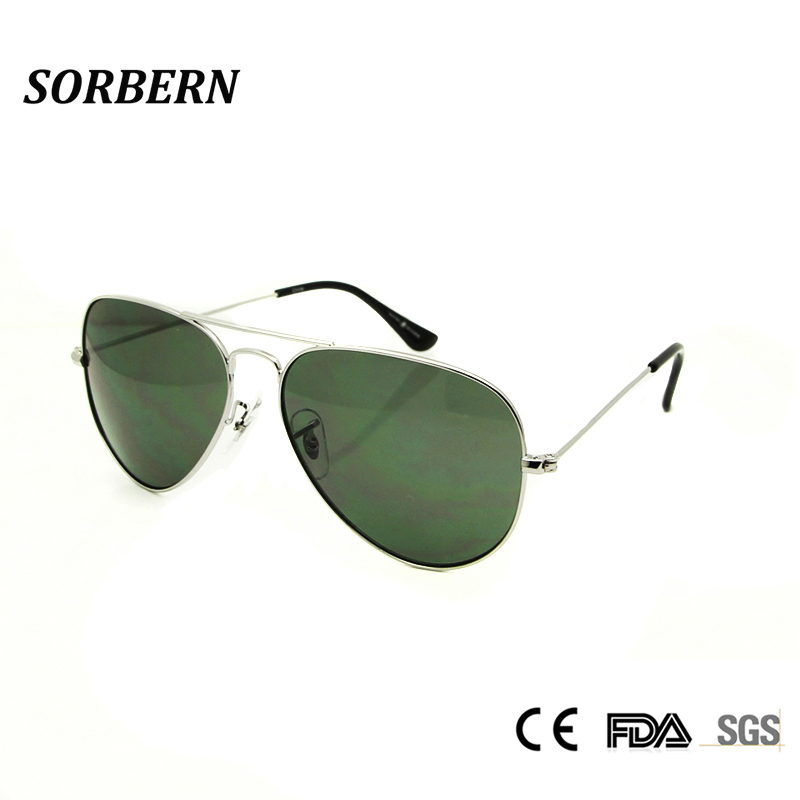 SORBERN Pilot Sunglasses Men 3025 58mm Sun Shade lunette de soleil masculino Gradient Lens Sun Glases Women UV400