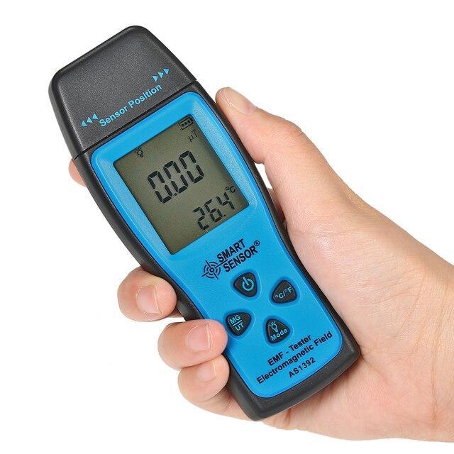 Dosímetro de Radiação Digital Mini LCD Medidor de EMF emf Tester Campo Eletromagnético Medidor de Radiação Detector Dosímetro Contador do Medidor