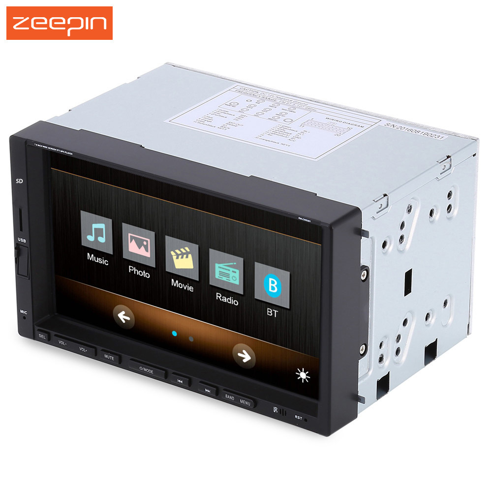 RM CW 9301 7 inch 2 Din Bluetooth Car Multimedia Player 12V Car MP3 MP4 MP5