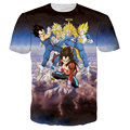 Enfriar Dragon Ball T Shirt Men Camiseta Homme 2016 Mens Anime Dragon Ball moda Impreso de Manga Corta T-shirt Los Hombres de la Historieta Tee Shirt