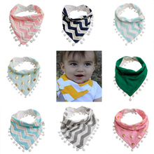 1Pc Baby Girls Boy font b Kids b font Saliva Towel Bandana Dribble Triangle Bibs Infant