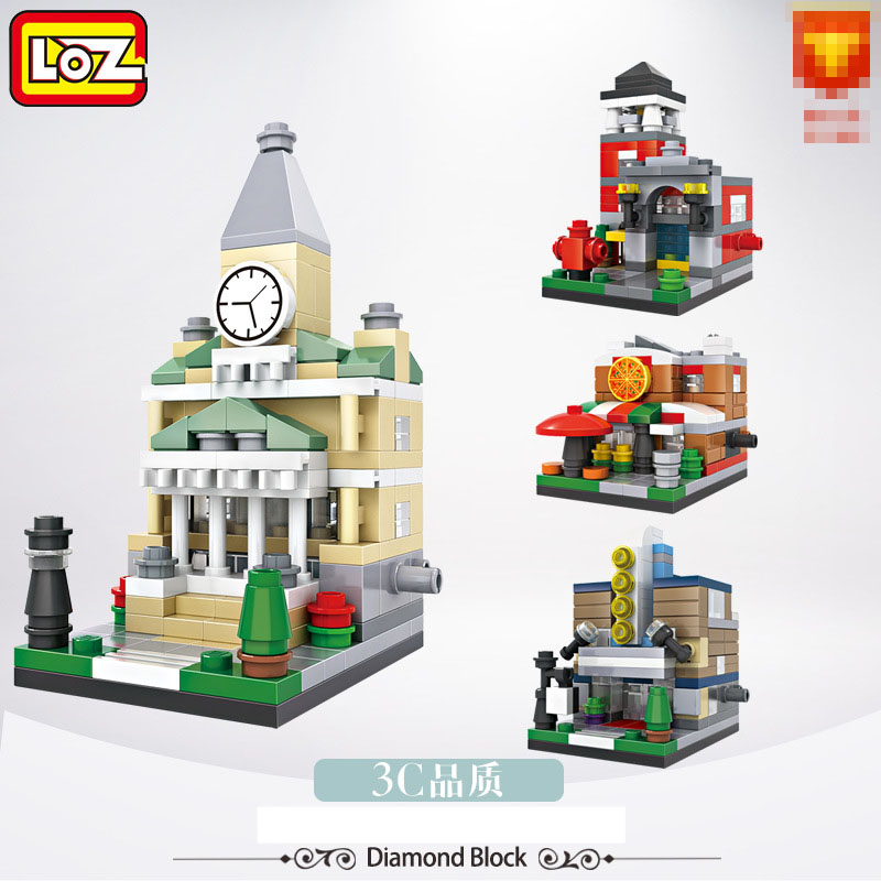 New Arrivals LOZ Building Street Scene Series Mini Small Particles Assembled Building Blocks Toy Children Educational Toys Gifts small pineapple ru bun lock children puzzle toy building blocks