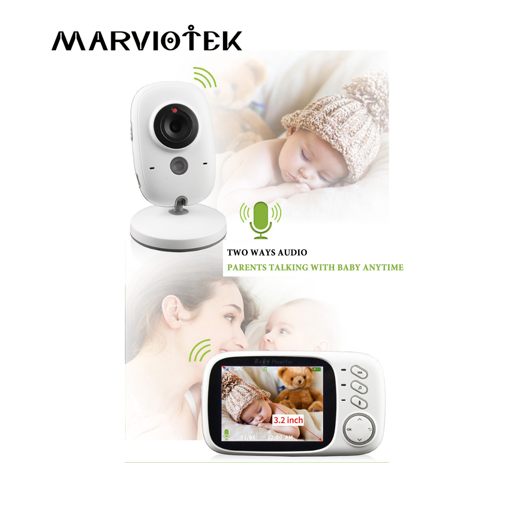 VB603 Video Baby Monitor 2.4G Wireless With 3.2 Inches LCD 2 Way Audio Talk Night Vision Surveillance Security Camera Babysitter 2 4ghz wireless night vision surveillance camera with 2 4 lcd handheld two way speaker receiver