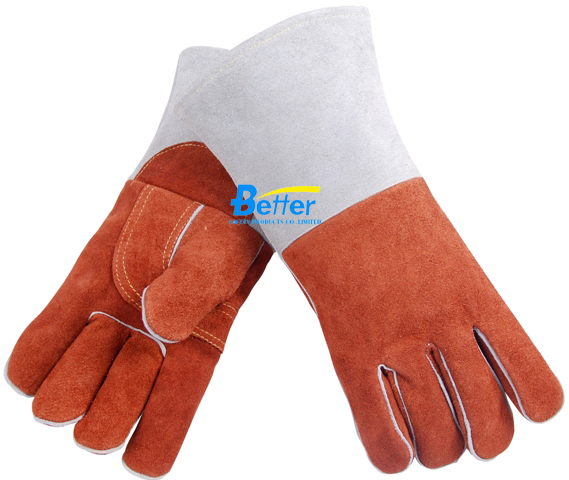 14 Inch Welder Safety Glove Split Cow Leather Welding Work Glove leather safety glove deluxe tig mig leather welding glove comfoflex leather driver work glove