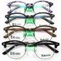 Moda Restaurar Antigas Formas Rodada Espelho Vai Óculos de Armação de Vidro Liso Quadro Pernas Finas Luz Tr 90 óculos de Miopia Espetáculo Quadro