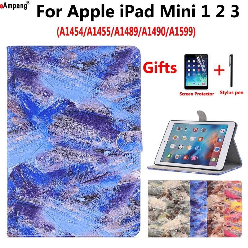 Graffiti Peint Étui En Cuir pour Apple iPad Mini 1 2 3 Mini2 Mini3 Mini1 7.9 Smart Case Couverture Funda Tablet Flip Stand Shell