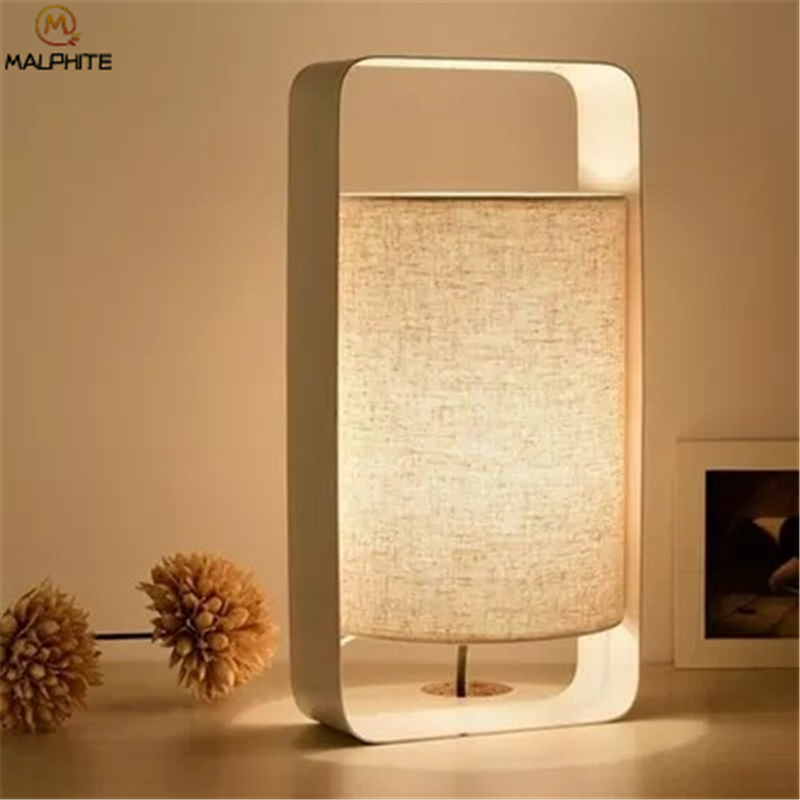Modern Linen Table Lamp Abajurs Golden Iron Home Decor Lamps Table Fabric Bedroom Nightstand Lamp Luminaire Table Light Modern Linen Table Lamp Abajurs Golden Iron Home Decor Lamps Table Fabric Bedroom Nightstand Lamp Luminaire Table Light