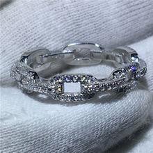 Женское Обручальное Кольцо h chain 100% цельное кольцо из стерлингового