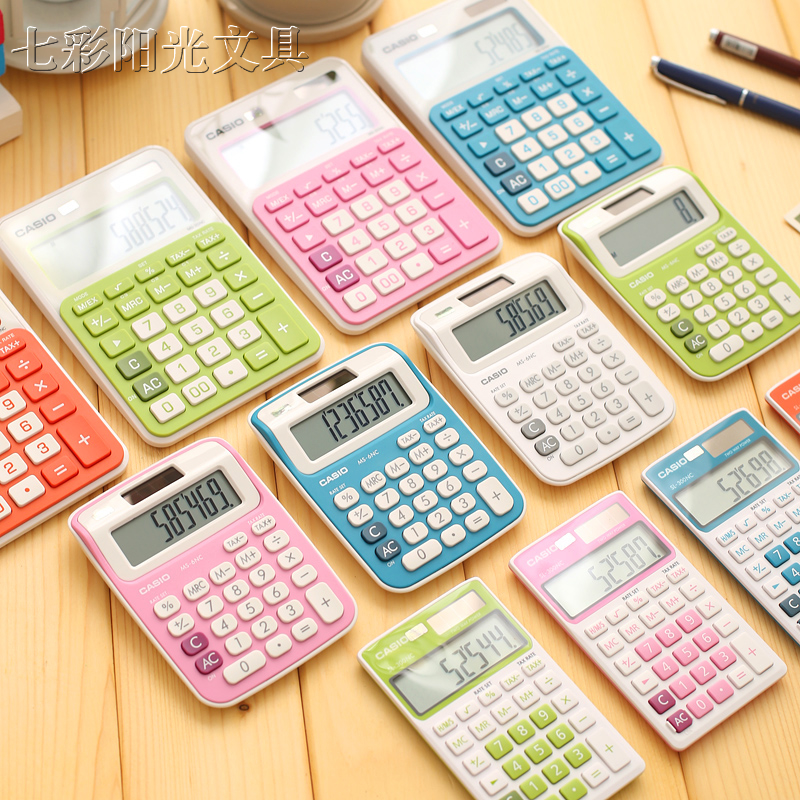 C*S*O Bright Color Series Calculator SL-300NC Double Power Pocket Money Calculator 1PCS
