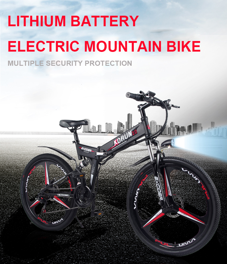 HTB1ieDCaPDuK1RjSszdq6xGLpXag - Customized 26inch Electrical bicycle 48V Three lithium battery electrical mountain bike good help hybrid ebike rang 200-250km ebike
