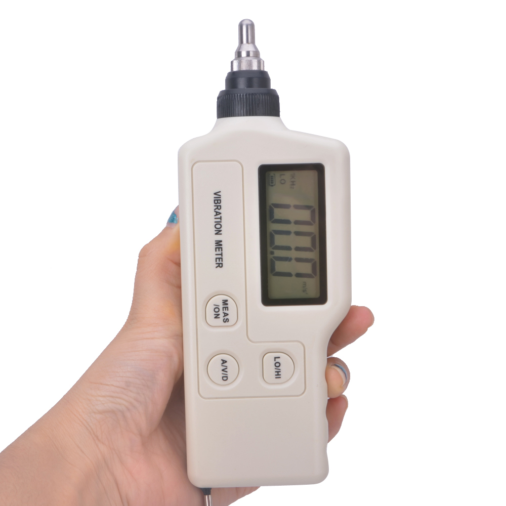 handheld vibration Meter digital display speed/acceleration/displacement measurement free shipping acceleration velocity displacement vibration meter gm63a