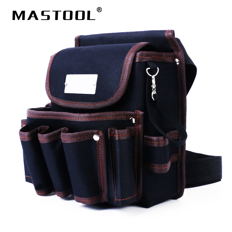 High Quality Tool Bag 600D Waterproof Cloth Rivet Fixed Tool Bag Belt Portable Electrician Working Storage Bag multi function meter reading dedicated tool bag high quality 600d oxford cloth tool bag multi pocket design electrician bag
