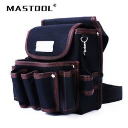 Soporte de telecomunicación de alta calidad electricista 600D tela a prueba de agua remache herramienta fija bolsa cinturón utilitario Kit bolsa de bolsillo