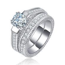 women wedding ring sets lady luxury jewelry drop shipping ebay supplier zircon silver plated rings wholesale - Ebay Wedding Rings