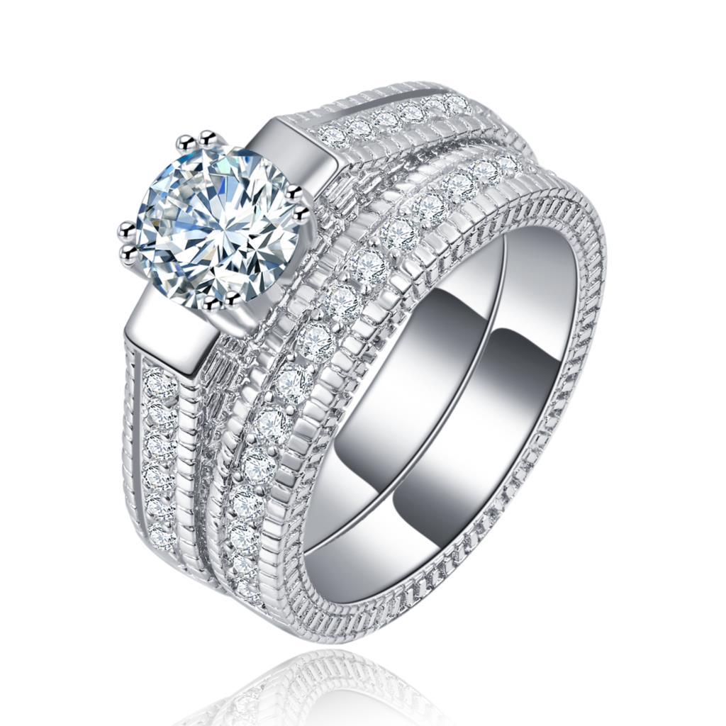 women wedding ring sets lady luxury jewelry drop shipping ...