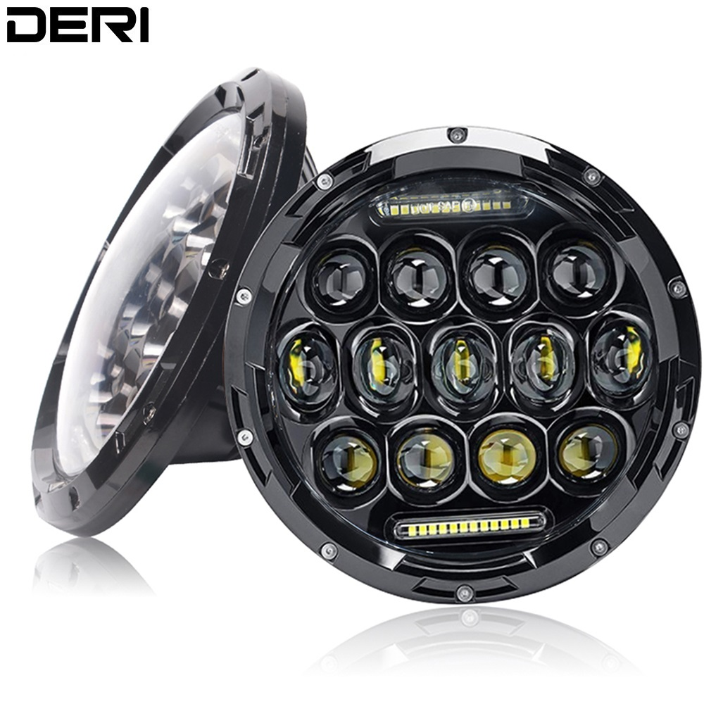 7 Inch 80W LED Headlight White light H4 H13 Hi Lo Multiple modes for Lada 4x4