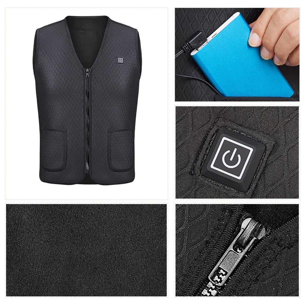 USB Heated Winter Jacket - Warm Outdoor Vest Heating Clothes
