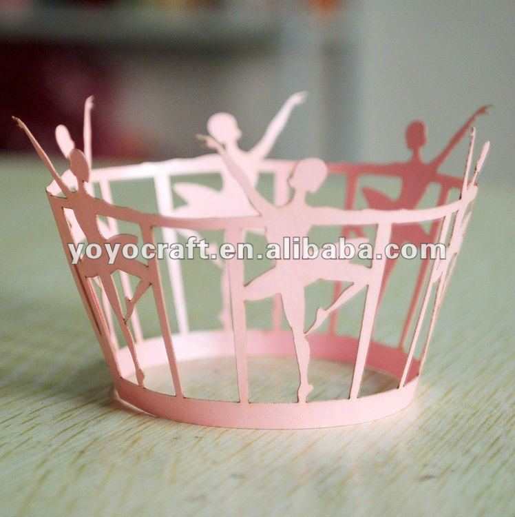 Indian Wedding Favors Wholesale: Fast Shipping 12pcs/pack Heart Cupcake Wrapper Laser
