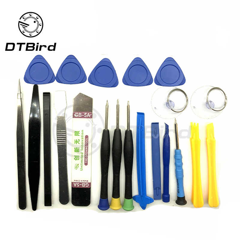 21 in 1 Mobile Phone Repair Tools Kit Opening Screwdriver Set Plier Suction Cup Pry Glasses Repair Kit Set Tools For Smartphone
