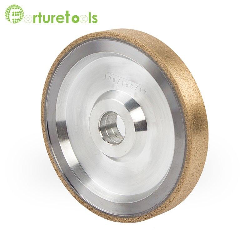 4 дюйма Металл Бонд алмазных колесо для Оптическое стекло объектива машина автоматически Точильщик грубого помола очки абразивные инструм