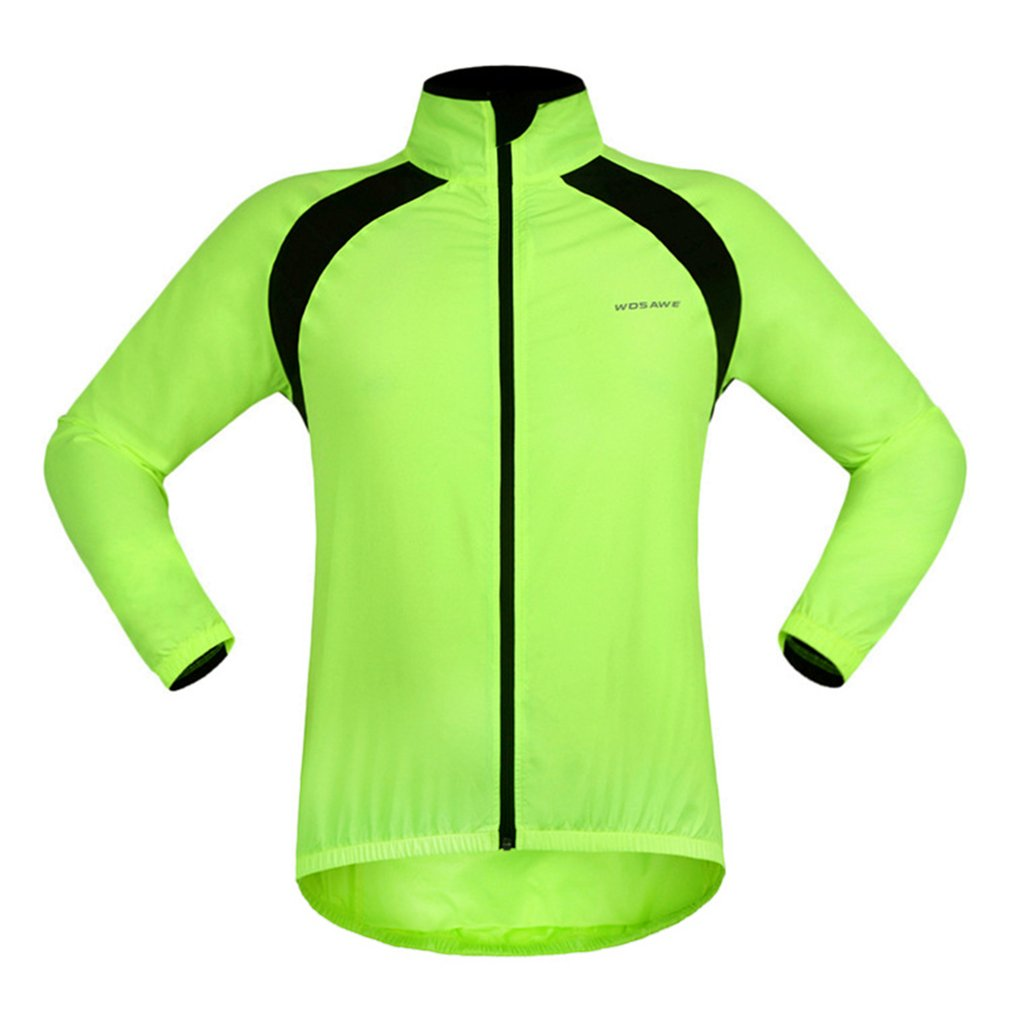 2018 Unisex Waterproof Cycling Sports Jacket Breathable Reflective Bicycle Clothing Long Sleeve Bike Wind Coat Spring Tops