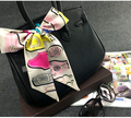 Belt  Badge Printed Fashion Lady 100% Silk Twilly Scarves Bags Scarf Small Ribbon Hair Band Bandeaus ZSBD36