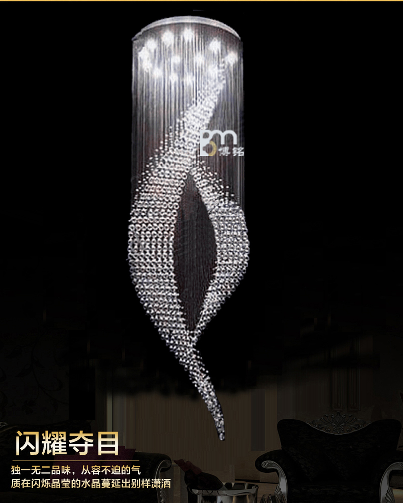 staircase lighting fixtures. New Design Large Modern Chandeliers Crystal Lighting Fixtures Luxury Foyer Staircase Light-in From Lights \u0026 On A