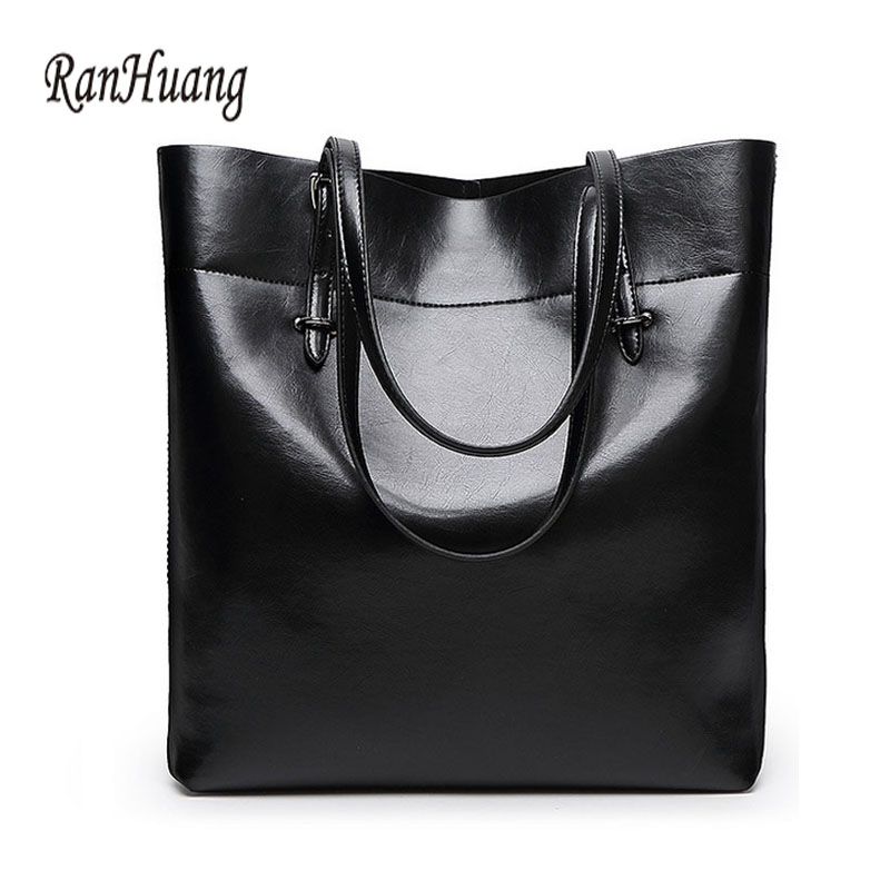 ФОТО RanHuang Genuine Leather Tote Bag Women Fashion Handbags 2017 Women's Messenger Bags Vintage Shoulder Bag Bolsa Feminina A100